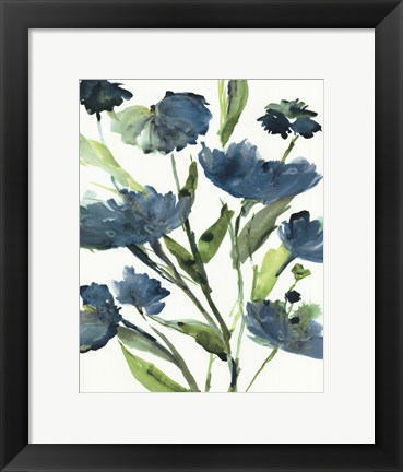 Framed Blueberry Blooms  II Print