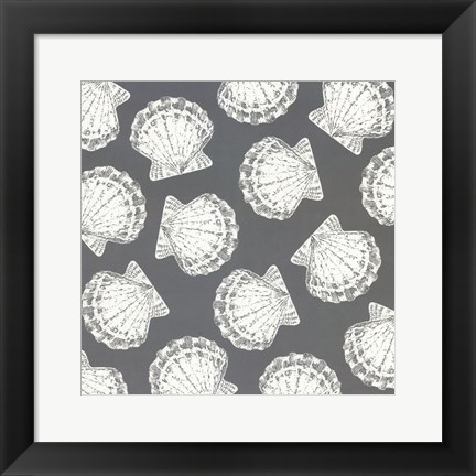 Framed Scattered Shells II Print