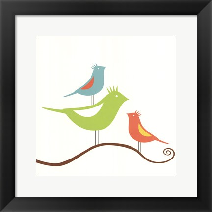 Framed Songbirds II Print
