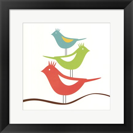 Framed Songbirds III Print