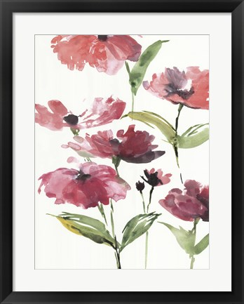 Framed Tickled Pink Posies Print