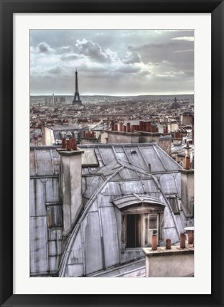Framed Paris Rooftops Print