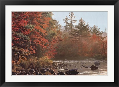 Framed Foggy River Print