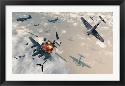 Framed B-17 Flying Fortress Bombers Print