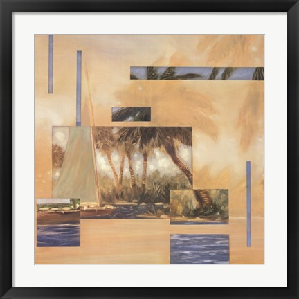 Framed Anoetic Palms I Print