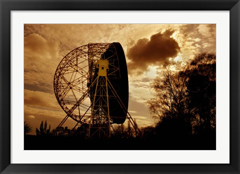 Framed Lovell Telescope in England Print
