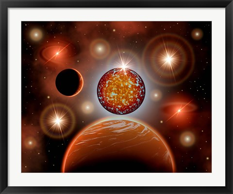Framed Cosmic Place Print