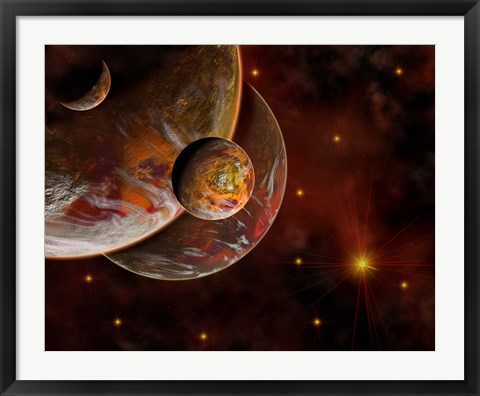 Framed Birth Place of a Star System Print