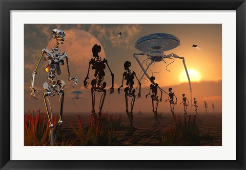 Framed Robotic Army Print