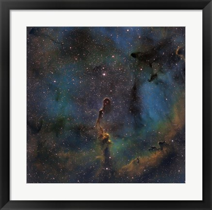 Framed IC 1396, the Elephant Trunk Nebula Print