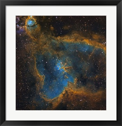 Framed IC 1805, the Heart Nebula Print