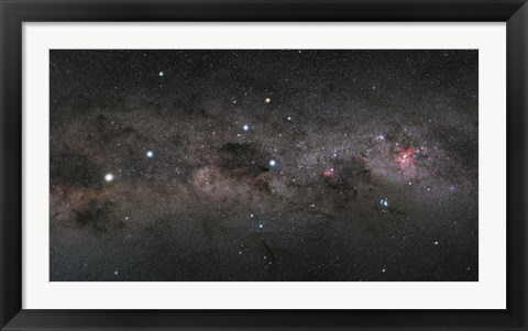 Framed Southern Cross Pointers in the Milky Way Print