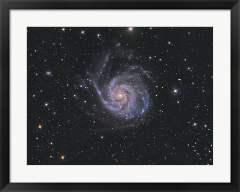 Framed Messier 101, Pinwheel Galaxy Print