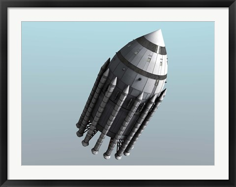 Framed Orion-Drive Spacecraft Print
