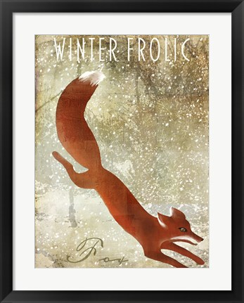 Framed Winter Game One Print