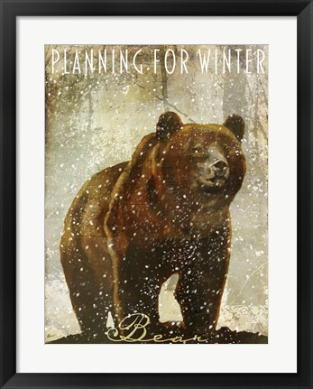 Framed Winter Game Three Print