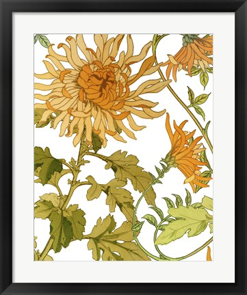 Framed Autumn Garden I Print