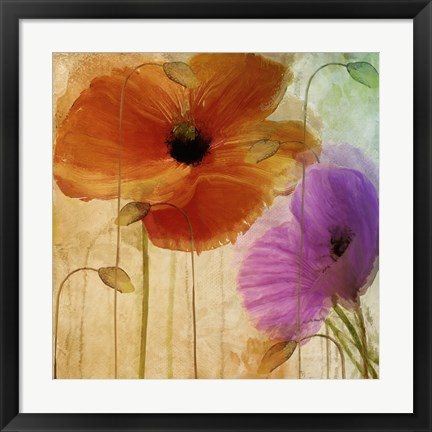 Framed Penchant For Poppies II Print