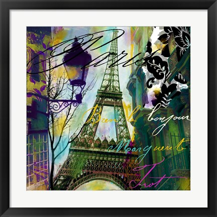Framed To Paris With Love I Print