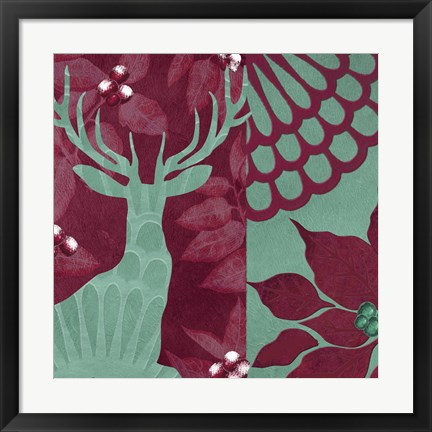 Framed Woodland Winter IV Print