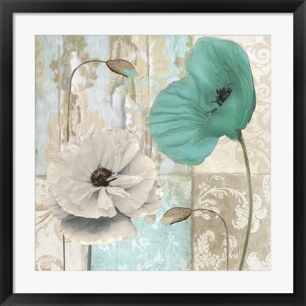 Framed Beach Poppies III Print
