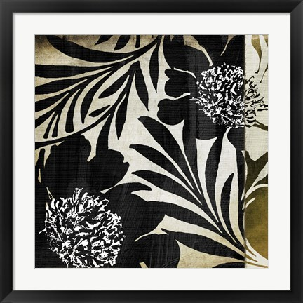 Framed Floral Jungle Lines I Print