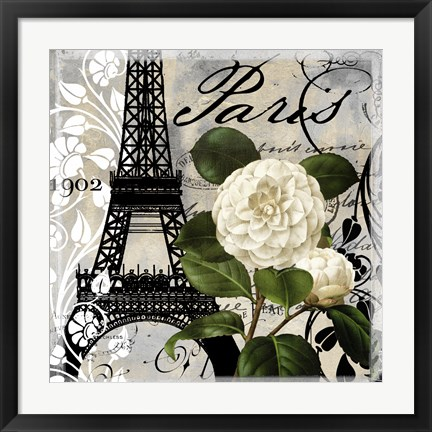 Framed Paris Blanc I Print