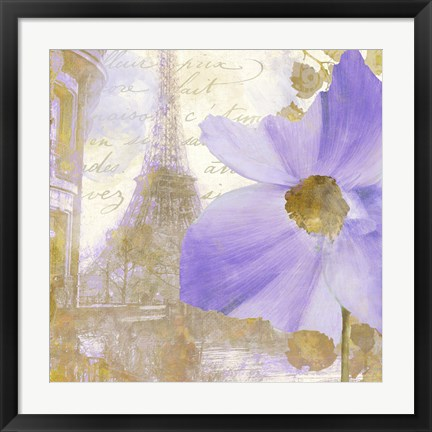 Framed Purple Paris I Print