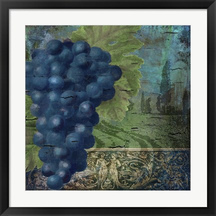 Framed Vino Blu Two Print