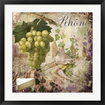 Framed Wine Country VI Print