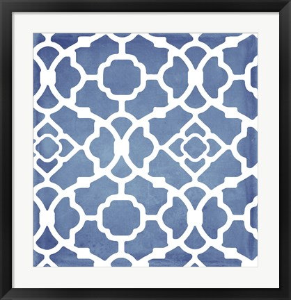 Framed Moroccan Blues III Print