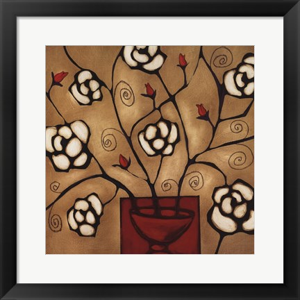 Framed Red Vase One Print