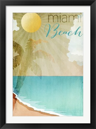 Framed Miami Beach Print