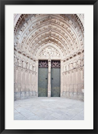 Framed Toledo Cathedral Door, Toledo, Spain Print