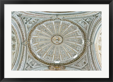 Framed Catedral Mosque of Cordoba, Ceiling, Cordoba, Andalucia, Spain Print
