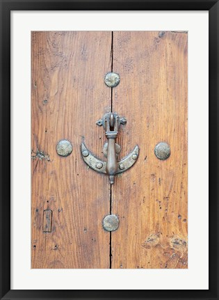 Framed Door Knocker, Toledo, Spain Print