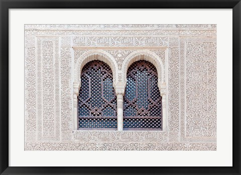 Framed Nasrid Palace, Alhambra, Granada, Andalucia, Spain Print
