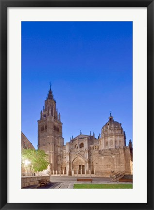 Framed Toledo Cathedral at Dawn, Toledo, Spain Print