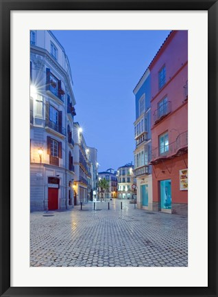 Framed Historic District, Malaga, Spain Print
