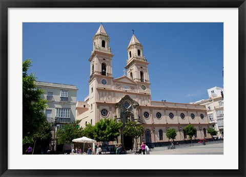 Framed Cathedral of San Antonio de Padua, Spain Print