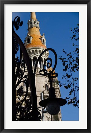 Framed Historic Architecture, Barcelona, Spain Print