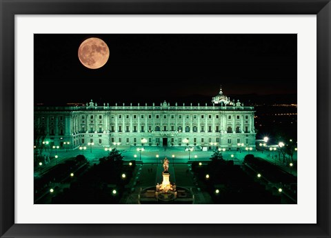Framed Royal Palace and Plaza de Oriente, Madrid, Spain Print