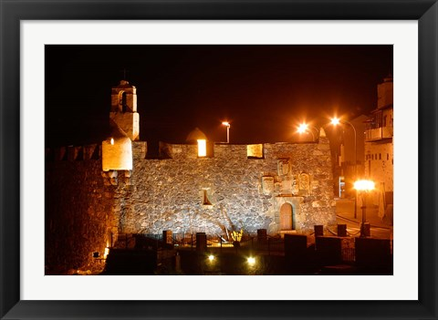 Framed Fortress by Night, Tenerife, Canary Islands, Spain Print