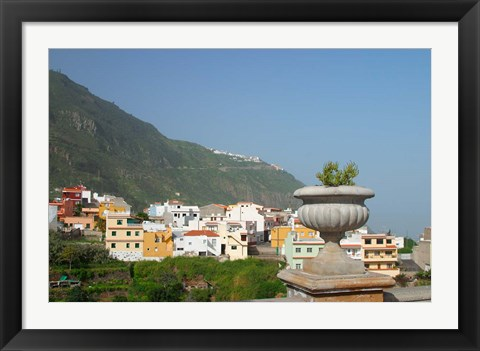 Framed Sea Coast Village, Tenerife, Canary Islands, Spain Print