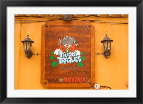 Framed Sign on Tenerife, Canary Islands, Spain Print