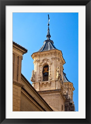 Framed Spain, Granada Bell tower of the Church of San Justo y Pastor Print