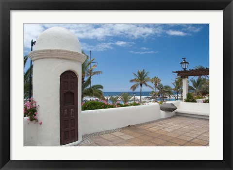 Framed Largo Martianez saltwater pools from Paseo de San Telmo, Tenerife, Canary Islands, Spain Print