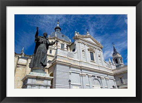 Framed Neo-Gothic Cathedral Almudena, Madrid, Spain Print