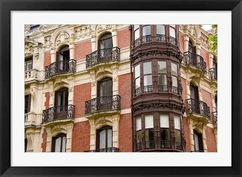 Framed Typical Architecture, Bilbao, Spain Print