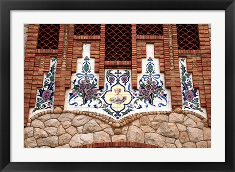 Framed Tiles of Santa Maria Magdalena, Novelda, Spain Print